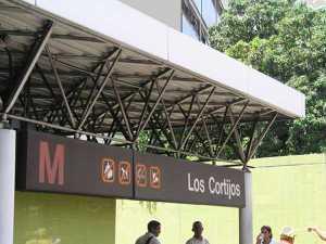 Estación Los Cortijos Metro de Caracas-Venezuela.
